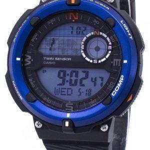 카시오 야외 SGW-600 H-2A SGW600H-2A 트윈 센서 석 영 디지털 남자의 시계