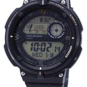 카시오 야외 SGW-600 H-9A SGW600H-9A 트윈 센서 석 영 디지털 남자의 시계