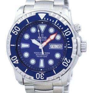 비 II 무료 다이 버 헬륨 안전 1000 자동 1068HA96-34VA-01 남자의 시계