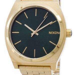 닉슨 시간 금전 출납 골드 톤 녹색 Sunray A045-1919-00 남자 시계