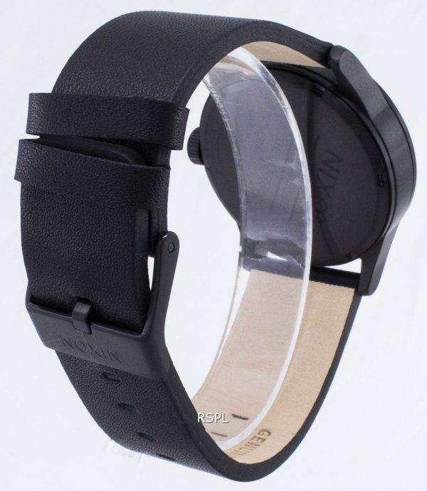 닉슨 석 영 센 검은 가죽 A105-001-00 남자 시계