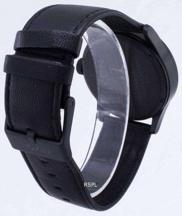 닉슨 석 영 센 검은 가죽 A105-005-00 남자 시계