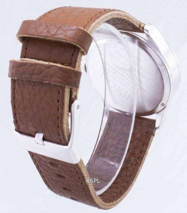 닉슨 석 영 센 갈색 가죽 A105-1037-00 남자 시계
