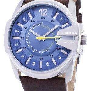 디젤 메가 최고 석 영 블루 다이얼 갈색 가죽 DZ1399 남자의 시계