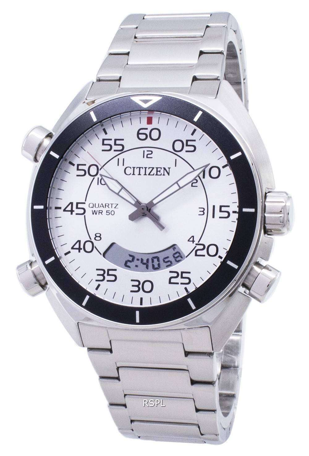 시민 석 영 JM5470-58A 아날로그 디지털 남자의 시계