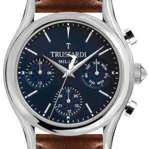 Trussardi T-라이트 R2451127002 크로 노 그래프 석 영 남자 시계