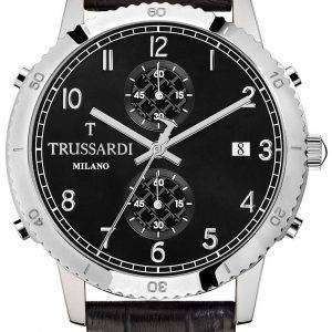 Trussardi T-스타일 R2471617006 크로 노 그래프 쿼 츠 남성용 시계