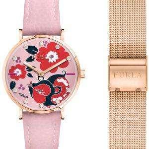 Furla Giada R4251108533 제한 된 에디션 석 영 여자의 시계