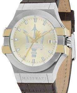 마 세라 티 포 텐 R8851108017 아날로그 쿼 츠 남성용 시계