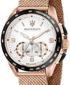 마 세라 티 Traguardo R8873612011 크로 노 그래프 타키 미터 석 영 남자 시계