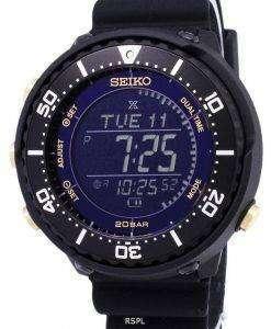 세이 코 Prospex SBEP005 Fieldmaster 소문자 듀얼 시간 태양 남자의 시계