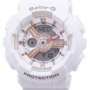 건반 베이비-G 바-110RG-7A BA110RG-7A 세계 시간 충격 방지 여자의 시계