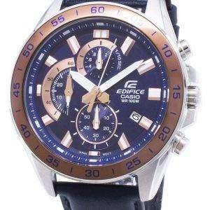 건반 건물 EFV-550 L-2AV EFV550L-2AV 크로 노 그래프 석 영 남자 시계