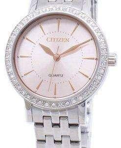 시민 석 영 EL3041-87 X 아날로그 다이아몬드 악센트 여자의 시계