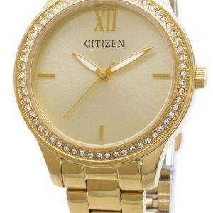 시민 석 영 EL3082-55 P 아날로그 다이아몬드 악센트 여자의 시계