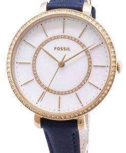 화석 조 슬 린 ES4456 다이아몬드 악센트 석 영 여자의 시계