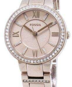 화석 버지니아 ES4482 다이아몬드 악센트 석 영 여자의 시계