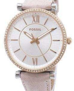 화석 Carlie ES4484 다이아몬드 악센트 석 영 여자 시계