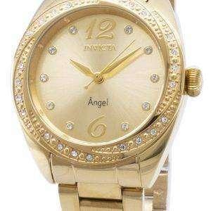 인 빅 타 천사 27457 다이아몬드 악센트 아날로그 여자 시계