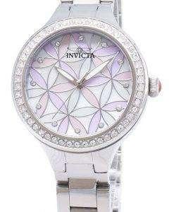 인 빅 타 야생화 28823 다이아몬드 악센트 아날로그 석 영 여자의 시계