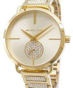 마이클 Kors 포 샤 MK3852 석 영 아날로그 여자의 시계