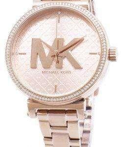 마이클 Kors 소피 MK4335 석 영 아날로그 여자의 시계