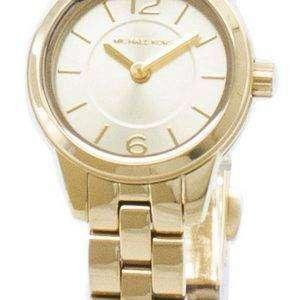 마이클 Kors 석 영 MK6592 아날로그 여자의 시계