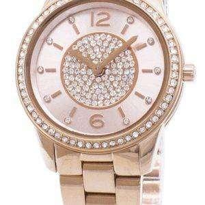 마이클 Kors 다이아몬드 악센트 MK6619 석 영 아날로그 여자 시계