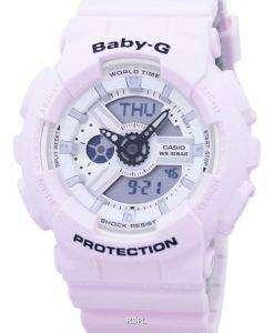 건반 베이비-G 충격 방지 세계 시간 아날로그 디지털 바-110BE-4A 여자의 시계