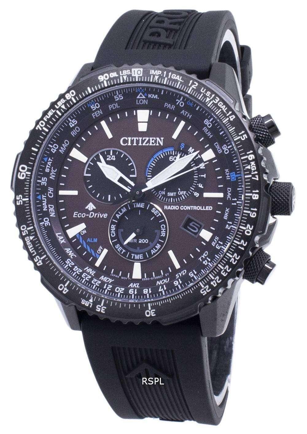 Citizen 시티즌 시계 에코 드라이브 CB5005-13X 무선 조종 200M 남성용 손목시계