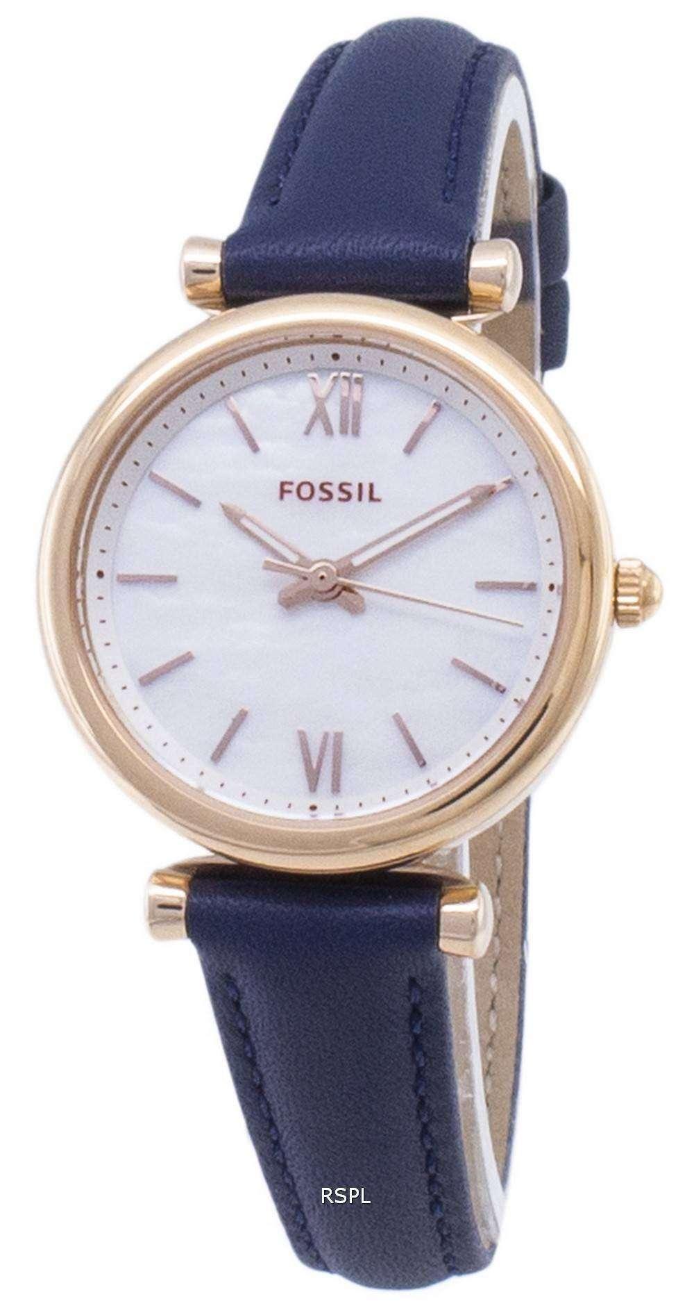 화석 Carlie 미니 ES4502 쿼 츠 아날로그 여성 시계