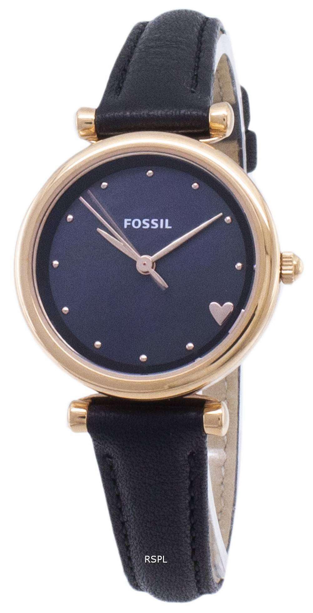 화석 Carlie 미니 ES4504 쿼 츠 아날로그 여성 시계