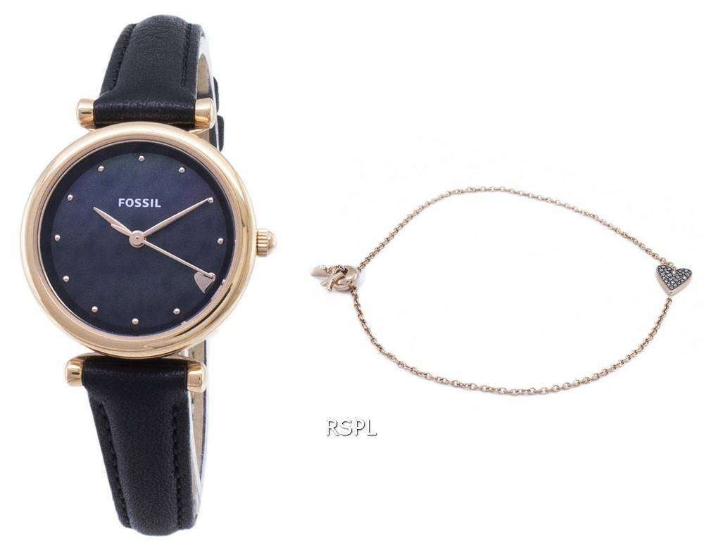 화석 Carlie 미니 ES4506SET 쿼 츠 아날로그 여성 시계