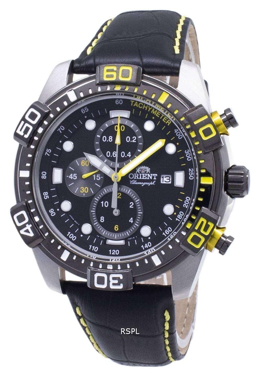 오리엔트 Sport FTT16005B 크로 노 그래프 쿼 츠 남성용 손목시계