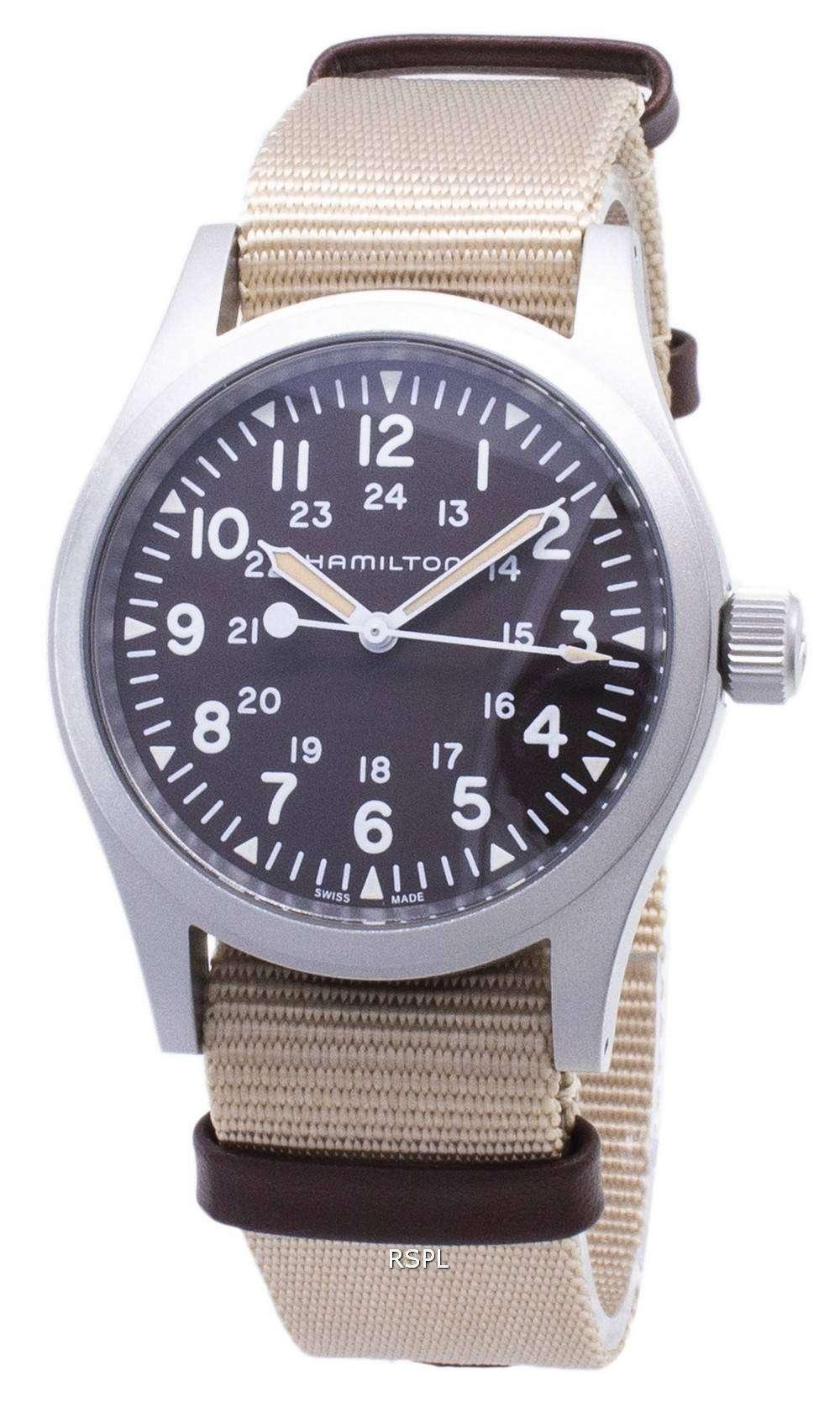 해밀턴 카 키 필드 H69429901 자동 아날로그 남성용 손목시계