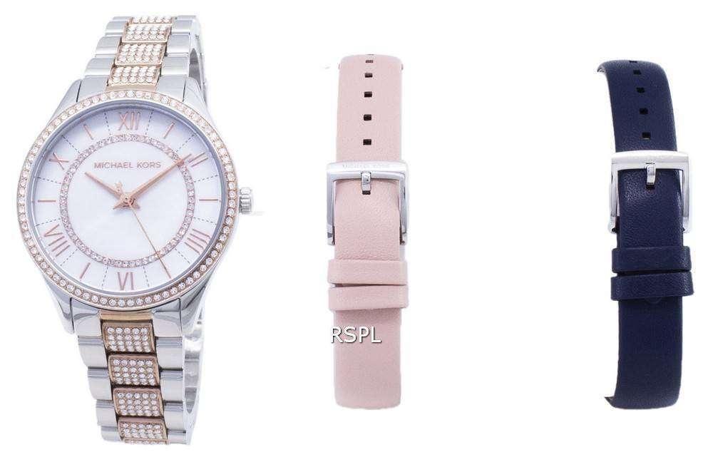 마이클 맥 스 Lauryn MK4366 다이아몬드 악센트 석 영 여자 시계