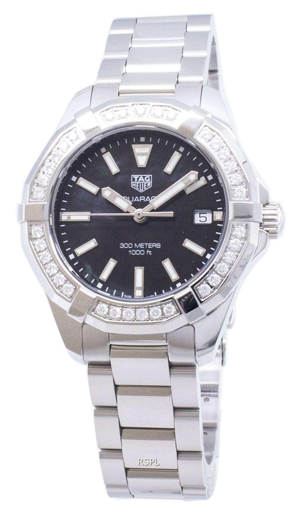 태그 호이어 Aquaracer WAY131P. BA0748 다이아몬드 악센트 석 영 300M 여자의 시계