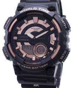 카시오 주니어 AEQ-110W-1A3V AEQ110W-1A3V 아날로그 디지털 남성용 손목시계