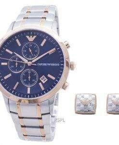 엠포리오 아르마니 레나토 아날로그 시계 크로노 그래프 AR80025