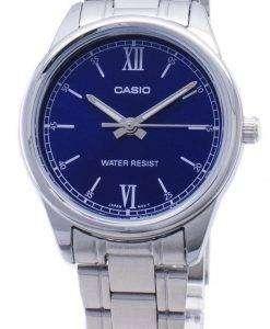 카시오 타임 피스 LTP-V005D-2B2 LTPV005D 쿼 츠 아날로그 여성용 손목시계