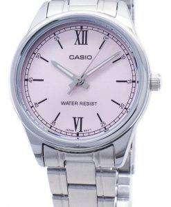 카시오 타임 피스 LTP-V005D 2 LTPV005D-4B2 쿼 츠 아날로그 여성용 손목시계