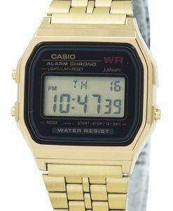 카시오 디지털 알람 크로 노 스테인리스 A159WGEA 1DF A159WGEA-1 여자의 시계