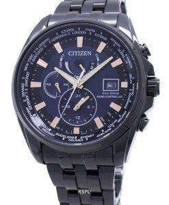 시티즌 에코 드라이브 전파 시계 글로벌 AT9039 - 51L 일본 제 200M 남자 시계