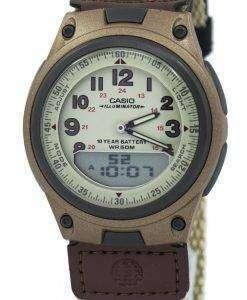 카시오 아날로그 디지털 Telememo 조명 AW-80V-5BVDF AW-80V-5BV 남자 시계