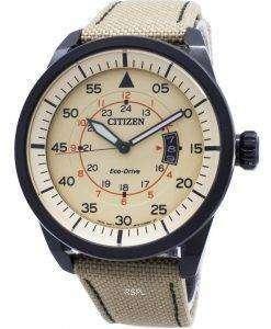 시민 에코 드라이브 비행 전력 예비 AW1365-19 P 남자 시계