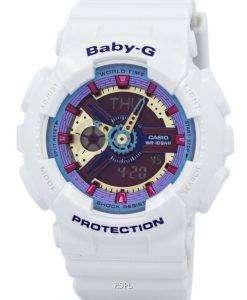 카시오 베이비 G 아날로그 디지털 멀티 컬러 다이얼 BA-112-7A 여성 시계