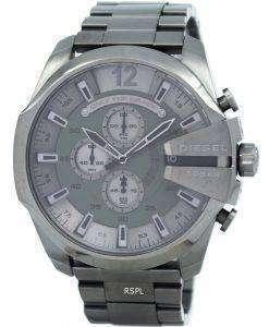 디젤 메가 최고 쿼 츠 크로 노 그래프 회색 다이얼 블랙 IP DZ4282 남자의 시계