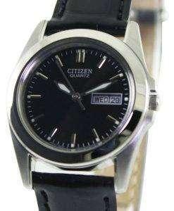 시민 쿼 츠 블랙 다이얼 EQ0560-09E 여자의 시계