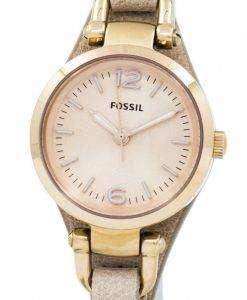 화석 조지아 미니 로즈 다이얼 모래 가죽 스트랩 ES3262 여자 시계