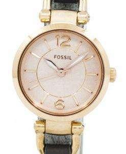 화석 조지아 로즈 다이얼 회색 가죽 ES3862 여자의 시계